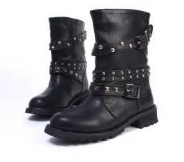 Punk combat boots 02 combat boots womens mens boys girls black