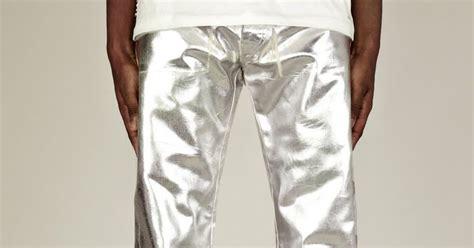 male pattern boldness jeans male pattern boldness revisiting metallics silver denim
