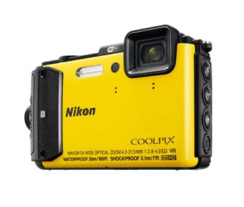 nikon coolpix waterproof nikon coolpix aw130 waterproof 224 30 m avec gps fiche
