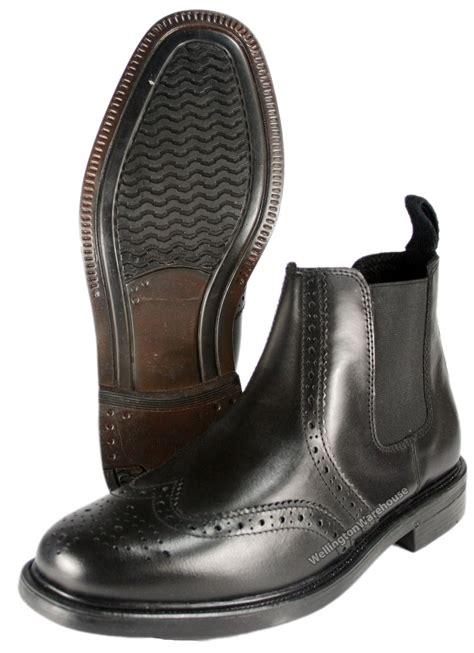 mens black brogue boots uk oaktrak black chestnut boys mens leather brogue