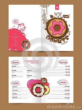 2 page flyer template two page brochure template or flyer for bakery stock