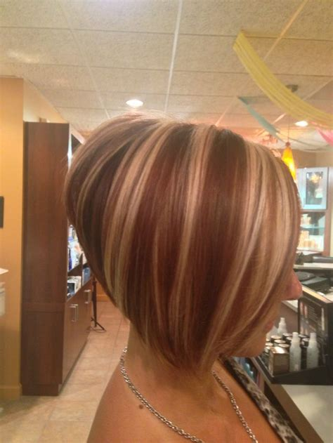 how to stack the back of your hair stacked bob haircut back view hair pinterest