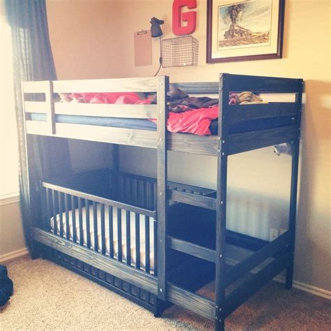 Bunk Bed For Boys by Best 20 Bunk Bed Crib Ideas On Toddler Bunk