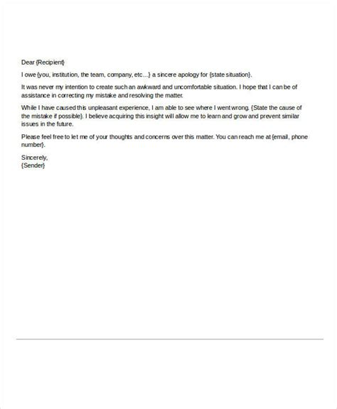 business letter sle of apology business letter of apology for mistake 28 images