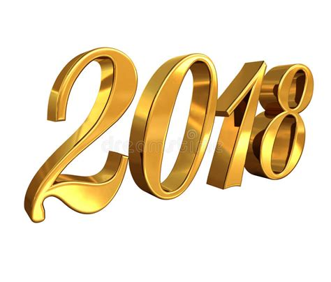 new year 2018 number 2018 golden 3d numbers on a festive background stock