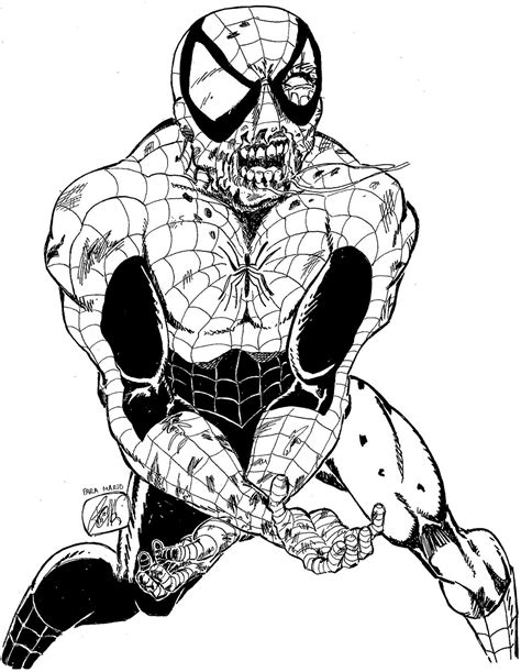 spiderman zombie coloring page imagenes de iron man para colorear rincon imagenes auto