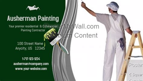 painter business card template painting contractor business card template postermywall