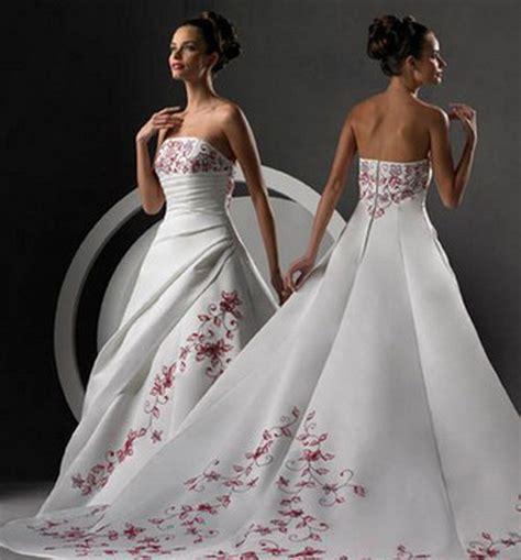 imagenes de vestidos de novia blanco con rojo vestidos de novia rojo con blanco