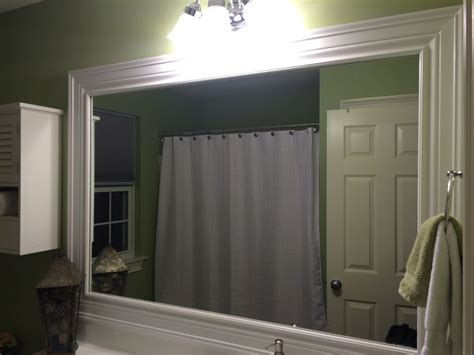 how to frame bathroom mirror with molding bathroom mirror redo molding frame guest bath pinterest