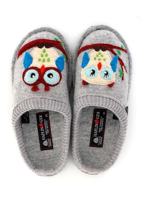 owl slippers haflinger 174 adorable owl motive slippers boiled wool