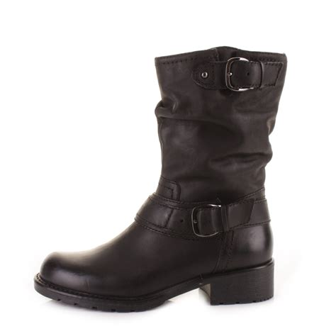 Clarks High Leather Premium Quality 0103 womens clarks orinocco jive black leather mid calf biker style ankle boots size ebay