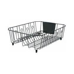 rubbermaid antimicrobial large dish drainer black kitchen