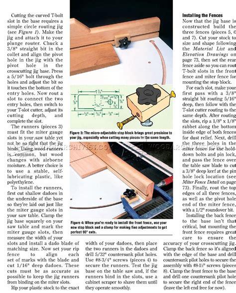 table saw crosscut sled plans precision crosscut sled plans woodarchivist