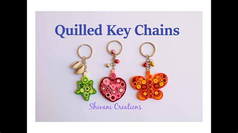 quilled key chains diy key ring