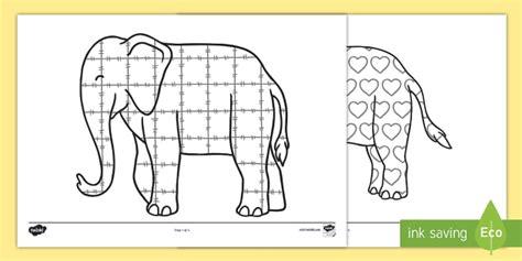 Elmer The Elephant Printables