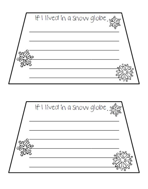 classroom freebies if i lived in a snow globe