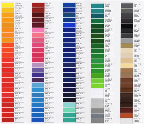 color vinyl pin vinyl color chart on