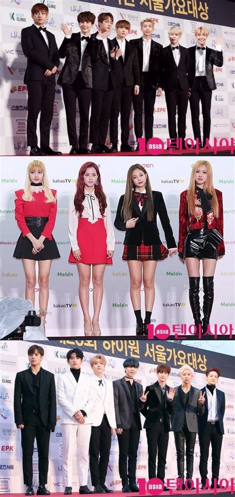 blackpink bts the second lineup of 6th gaon chart music awards