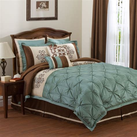 Teal Bed Set by Teal Brown Bedding For The Home Bedding