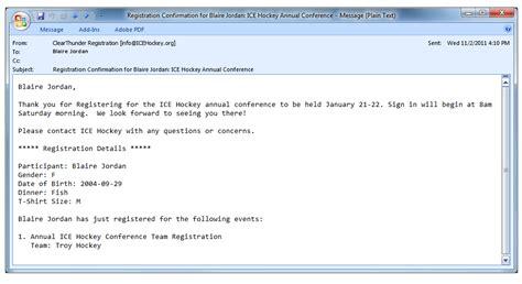 email register clearthunder online registration system features