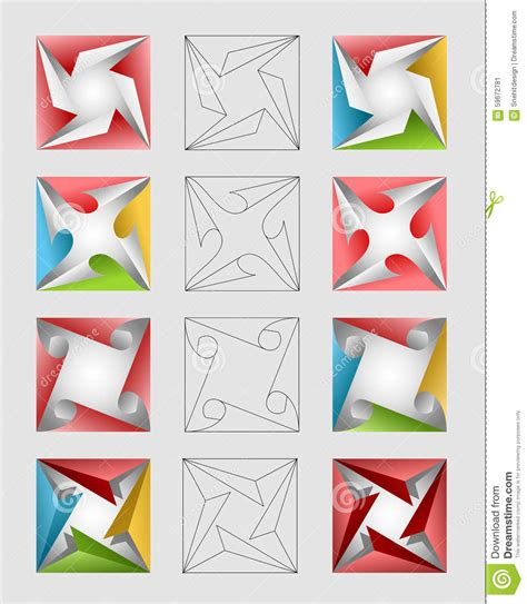 design elements square colorful square design elements stock illustration image