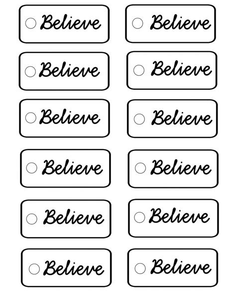 printable believe tags polar express believe bells with free printable tags