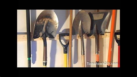 how to hang tools in shed organize garage hang tools for cheap youtube
