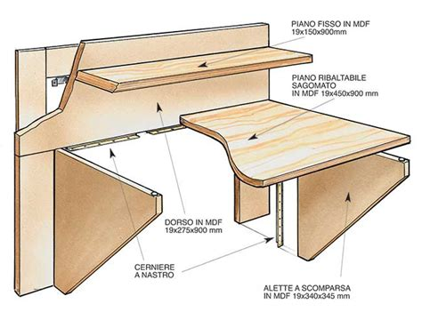 costruire una scrivania in legno come costruire una scrivania a scomparsa in legno