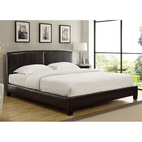 arched platform bed modus furniture upholstered arch platform bed in chocolate