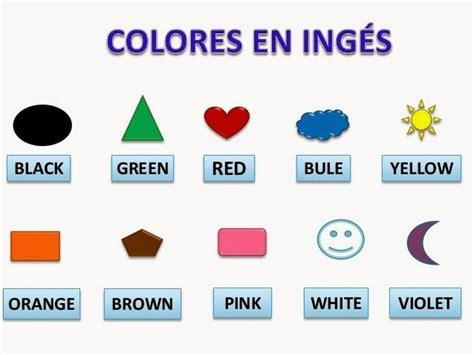 imagenes de colores en ingles y español los colores en ingles y espa 241 ol para ni 241 os material para