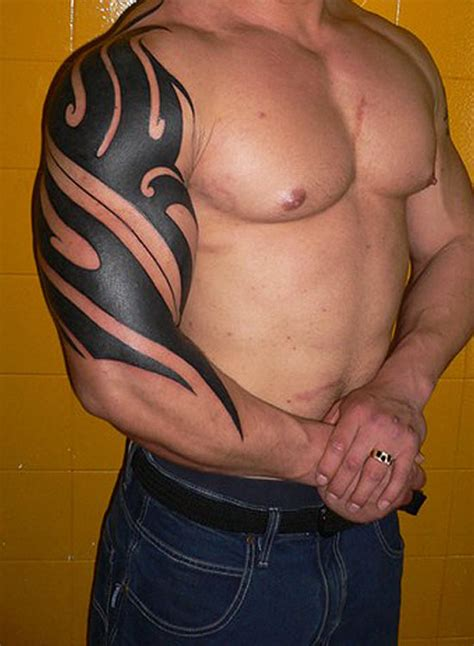 tribal tattoos on shoulder and arm design ideas for arm tribal design for