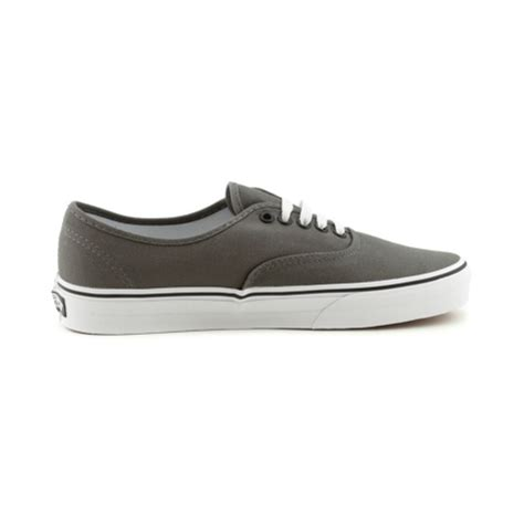 Vans Authentic Grey White vans authentic skate shoe gray white at journeys shoes