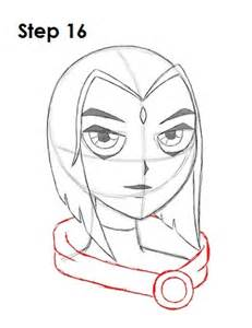 how to draw raven teen titans