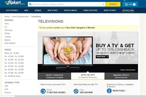 best price televisions flipkart let s you buy televisions the easy way the
