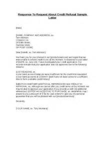 Credit Refusal Business Letter Response To Request About Credit Refusal Sle Letter Hashdoc