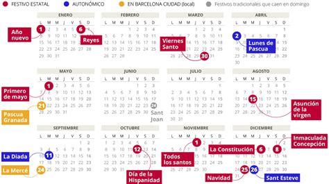 El Barcelona Calendario Calendario Laboral De Barcelona 2018 Con Todos Los