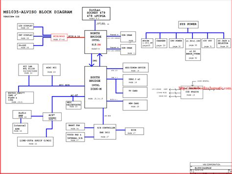 msi motherboard diagram laptop schematic notebook