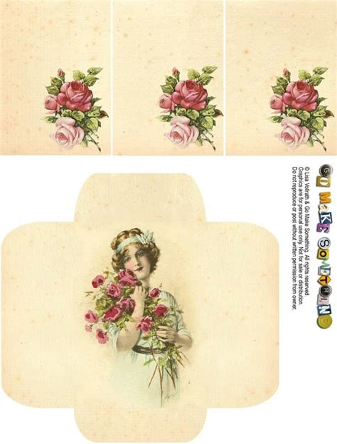 printable vintage envelope envelope victorian printable craft diy projects