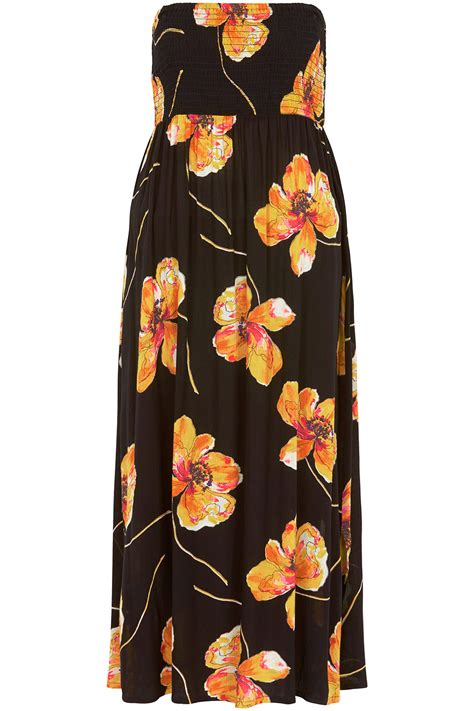 Poppy Maxi poppy print shirred maxi dress