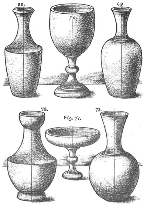Vase Drawing For by How To Draw Cones Vases And Vessels With The Following 3
