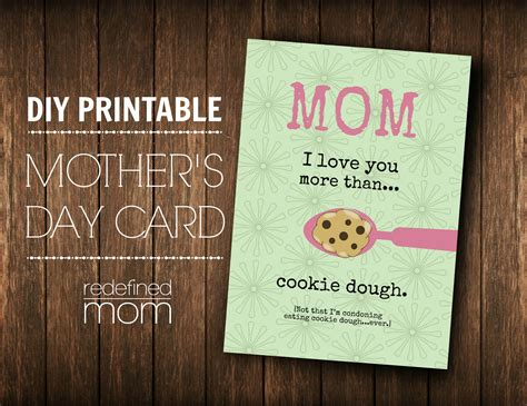 diy mothers day cards customizable diy printable mother s day card