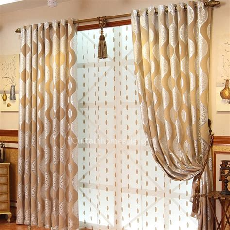best curtain color best beige and silver color chenille thick blackout living