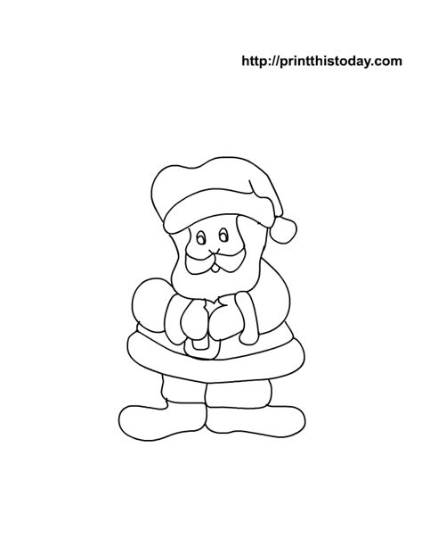 cute santa coloring pages free printable coloring page with santa