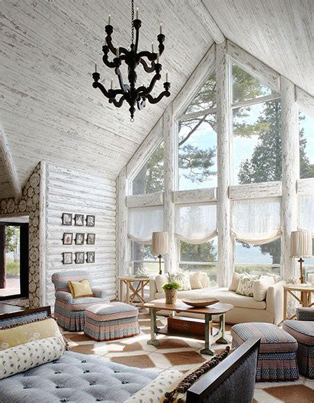 White Cabin by Magical White Cabin Interior Design By The Lake