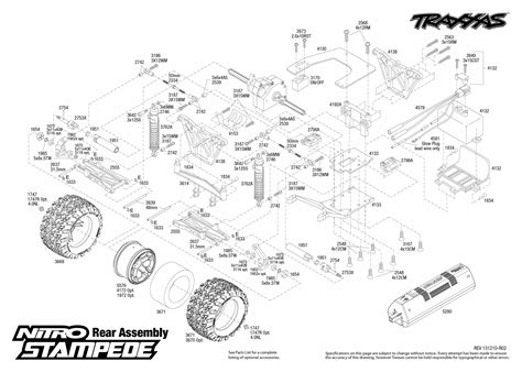 traxxas rustler parts diagram nitro stede 41094 rear assembly traxxas
