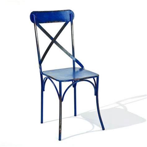 Blue Bistro Chairs Bistro Metal Dining Chair In Blue 21858 Furniture In