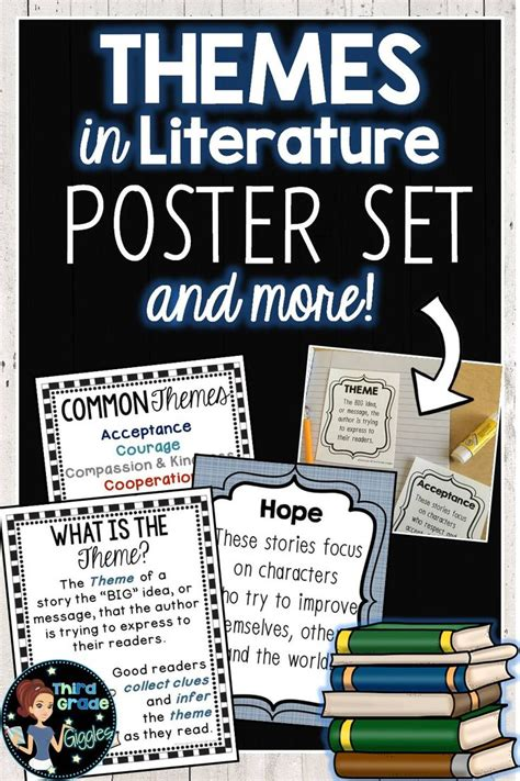 themes and motifs literature themes in literature poster set student the o jays and