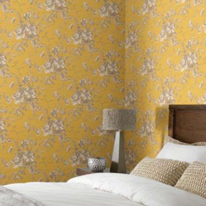 gold effect wallpaper arthouse vintage fleurette gold effect floral wallpaper