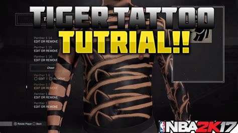 nba 2k18 best tattoo customization tutorial for your nba 2k17 tips how to make the best tattoos full body