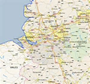 map of showing alsager map and road maps of cheshire uk